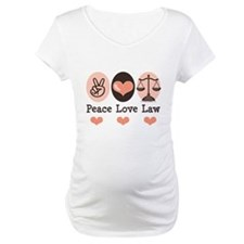 Peace Love Law School Lawyer Shirt