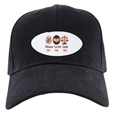 Peace Love Law School Lawyer Baseball Hat