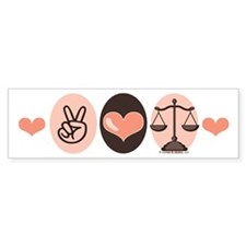 Peace Love Law School Lawyer Bumper Bumper Sticker