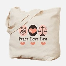 Peace Love Law School Lawyer Tote Bag