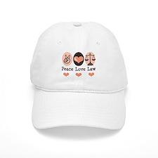 Peace Love Law School Lawyer Baseball Cap