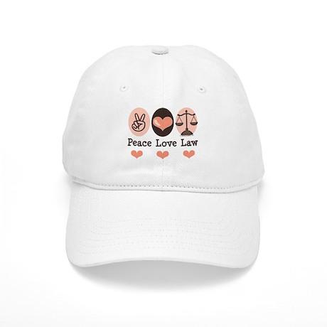 Peace Love Law School Lawyer Cap