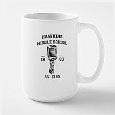 Hawkins Middle AV Club Mugs