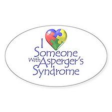 Someone w/Asperger's Oval Bumper Stickers