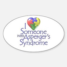 Someone w/Asperger's Oval Stickers
