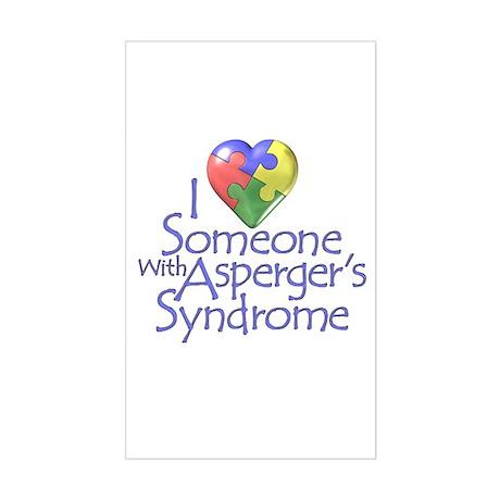 Someone w/Asperger's Rectangle Sticker