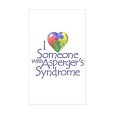 Someone w/Asperger's Rectangle Stickers