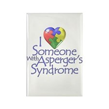 Someone w/Asperger's Rectangle Magnet (10 pack)