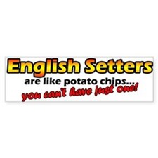 Potato Chips English Setter Bumper Bumper Sticker