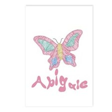 Pink Butterfly Abigale Postcards (Package of 8)