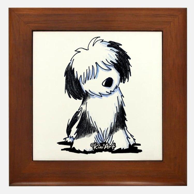 Tibetan Terrier Framed Tile