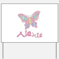 Pink Butterfly Alexis Yard Sign