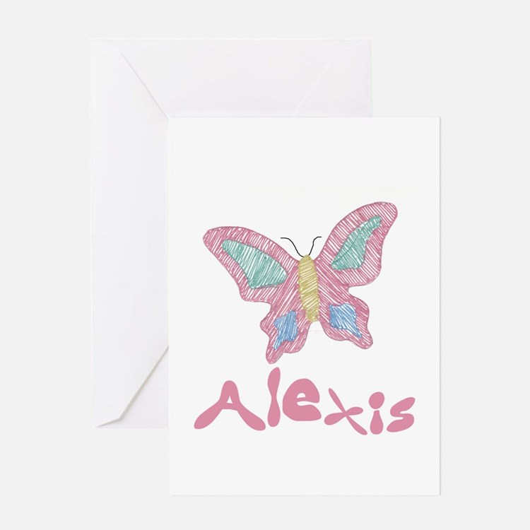 Pink Butterfly Alexis Greeting Card