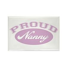Proud Nanny Rectangle Magnet