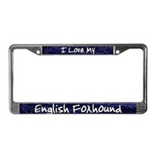 Funky Love English Foxhound License Plate Frame