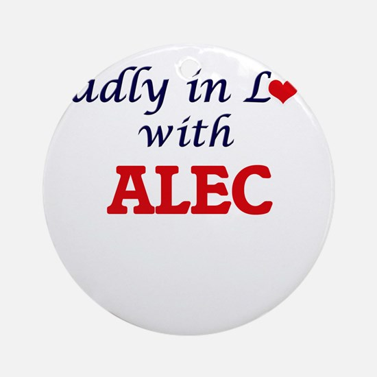 Madly in love with Alec Round Ornament