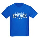 I'd Rather Be In New York Kids Dark T-Shirt