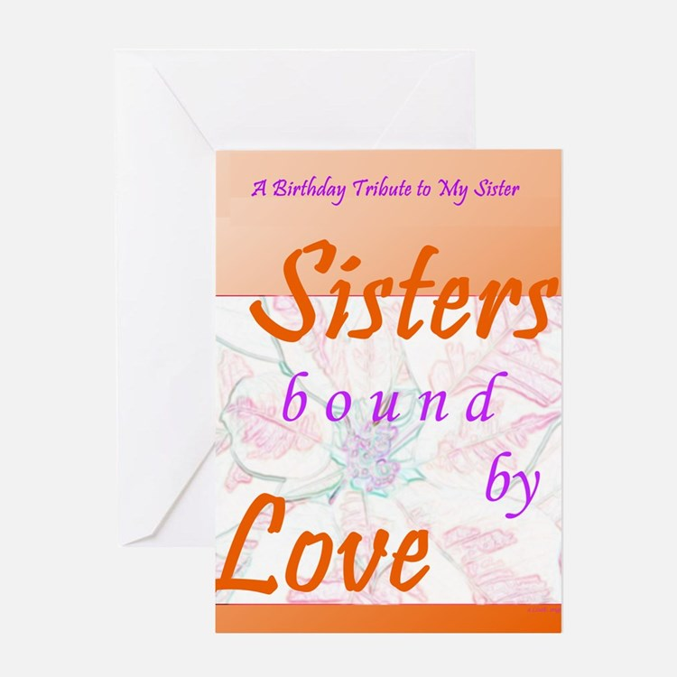 Sisters Birthday Tribute Greeting Card