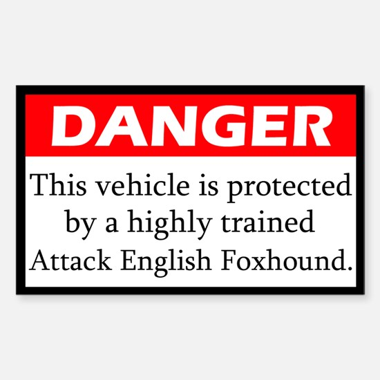 Attack English Foxhound Decal