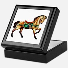 Malachite Carousel Keepsake Box