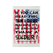 Thank Teacher & Soldier Rectangle Magnet