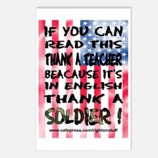 Thank Teacher & Soldier Postcards (Package of 8)