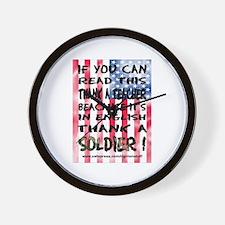 Thank Teacher & Soldier Wall Clock