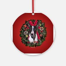 Mini Bull Terrier Ornament (Round)