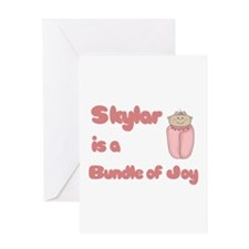 Skylar is a Bundle of Joy Greeting Card