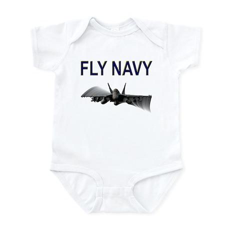 FLY NAVY Super Hornet Shirts Infant Bodysuit