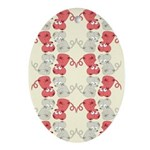 Rat Chinese New Year Art Oval Ornament