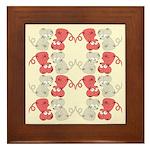 Rat Chinese New Year Art Framed Tile