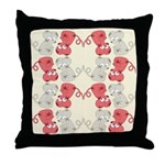 Rat Chinese New Year Art Throw Pillow