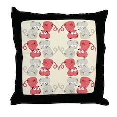 Rat Chinese New Year Art Throw Pillow