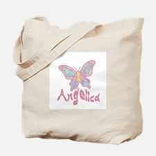 Pink Butterfly Angelica Tote Bag