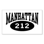 Manhattan 212 Rectangle Sticker