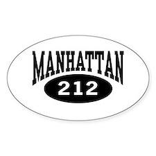Manhattan 212 Oval Decal