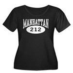 Manhattan 212 Women's Plus Size Scoop Neck Dark T-