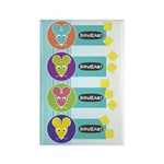 Mod Year of the Rat Rectangle Magnet (10 pack)