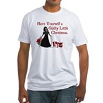 Gothy Little Christmas Fitted T-Shirt