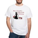 Gothy Little Christmas White T-Shirt