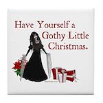 Gothy Little Christmas Tile Coaster