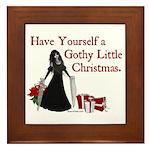 Gothy Little Christmas Framed Tile