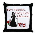 Gothy Little Christmas Throw Pillow