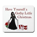 Gothy Little Christmas Mousepad