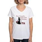 Gothy Little Christmas Women's V-Neck T-Shirt