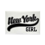 New York Girl Rectangle Magnet