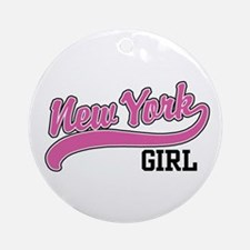New York Girl Ornament (Round)