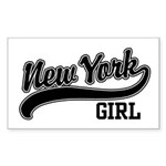 New York Girl Rectangle Sticker