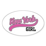 New York Girl Oval Sticker